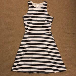 H&M striped skater dress S